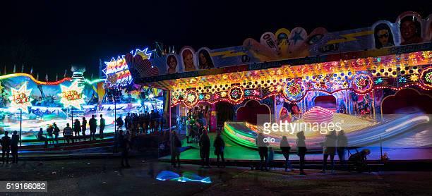 Fruehlingsfest fairground Elsaesser Platz Wiesbaden carousel