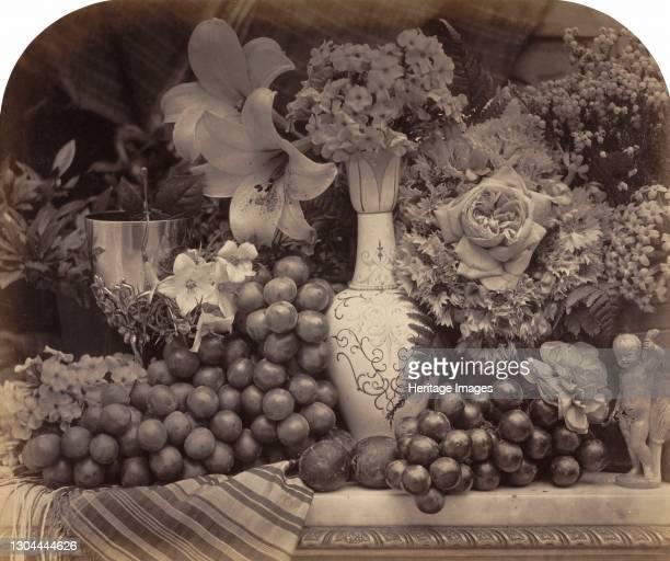 Fruit and Flowers, 1860. Artist Roger Fenton.