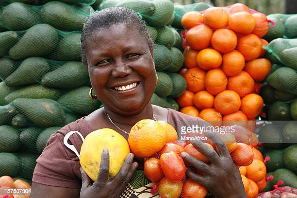 fruit and veg seller south africa - south african culture stock photos and pictures
