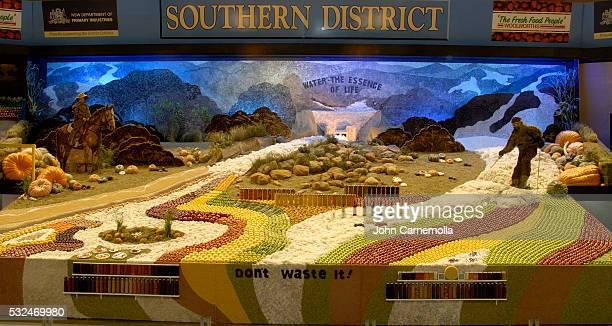 Fruit and Vegetable Diorama Display in Australia
