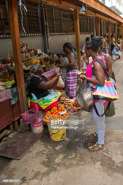 Fruit and vegetable market in Paramaribo