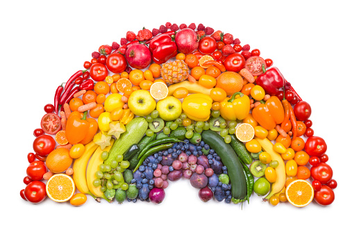 Fruit and vegetable rainbow 527794517