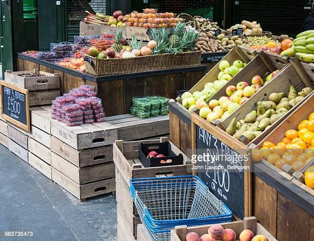 Fruit and vegetable stall, Borough Market, London