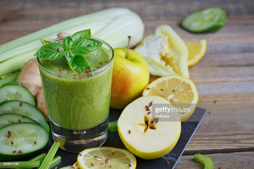 Fruit And Vegetables Smoothie Healthy Breakfast Stock Photo Getty
