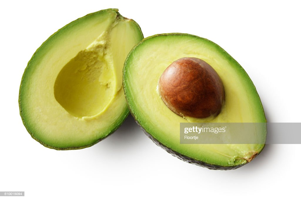 Fruit: Avocado Isolated on White Background