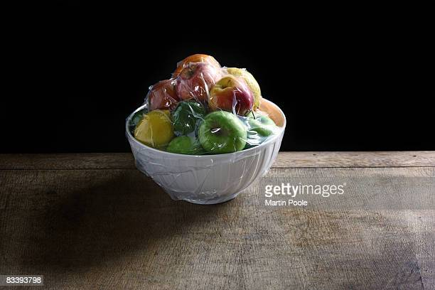 fruit bowl that has been vacum packed