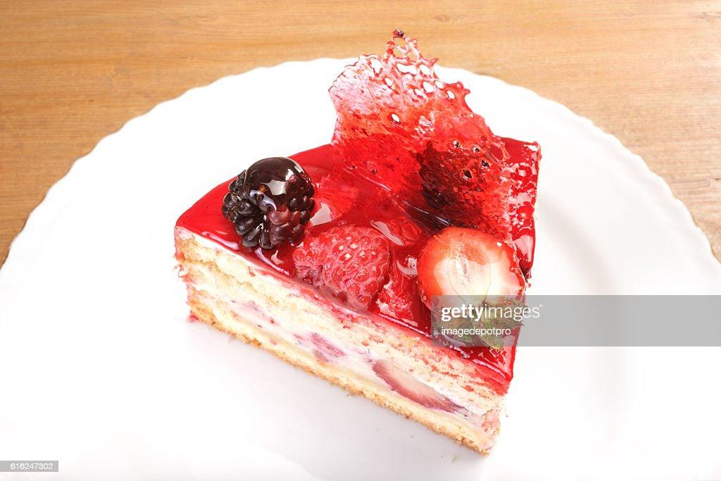 fruit cake slice : Stock Photo