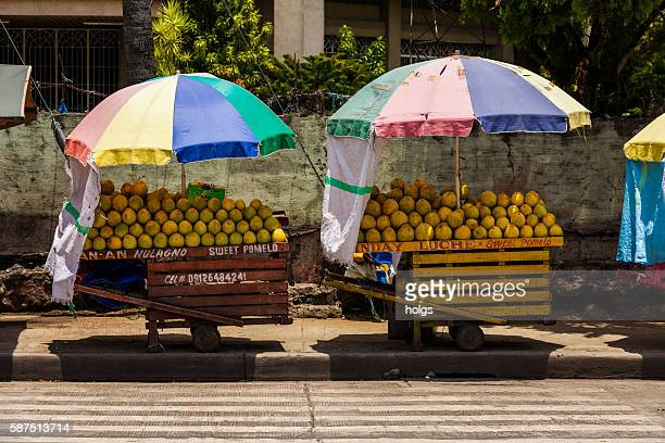fruit carts in davao, philippines - davao city stock photos and pictures