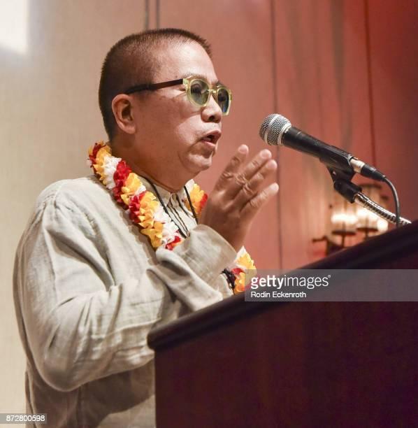 Fruit Chan speaks onstage at the 37th Annual Hawaii International Film Festival Gala presented by Halekulani on November 10 2017 in Honolulu Hawaii