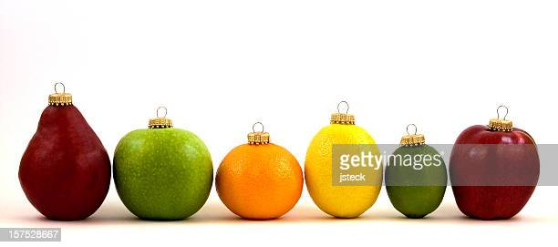 Fruit Christmas Ornament Line Up