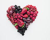Fruit forming heart-shape