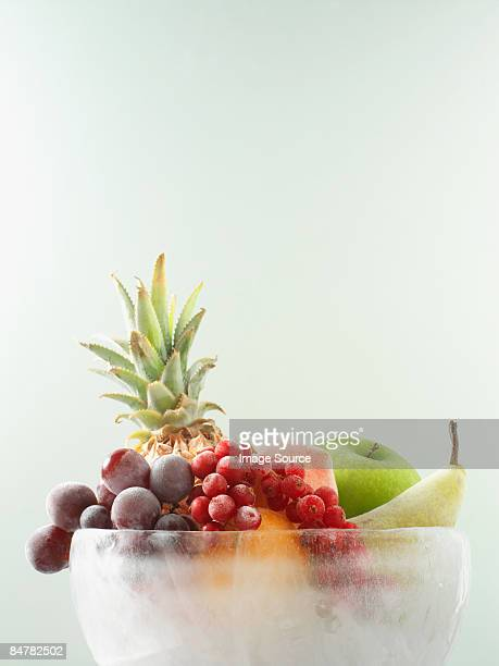 Fruit in ice bowl