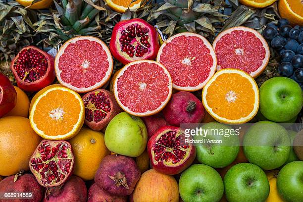 fruit juice stall in beyoglu - antioxidant stock pictures, royalty-free photos & images