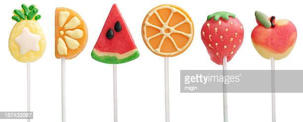 Fruit Lollipops - Pinapple, Orange, Watermelon, Strawberry, Apple
