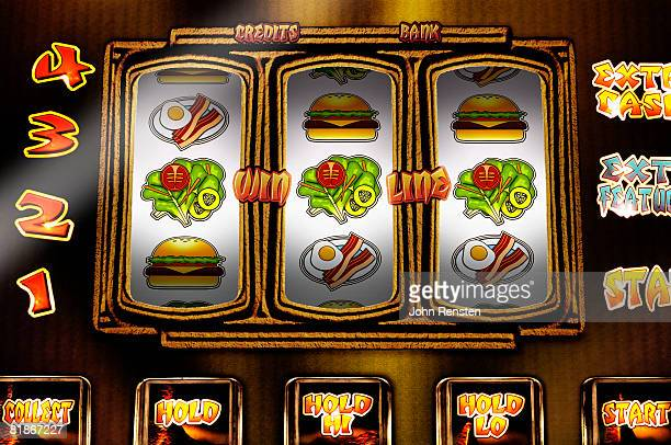 Fruit machine with health/diet issued reels