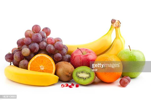 fruit mix - apple fruit stock photos and pictures