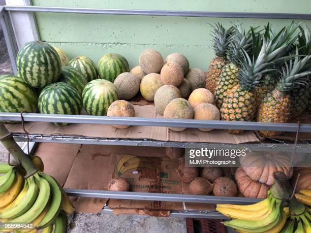 Fruit outside a market