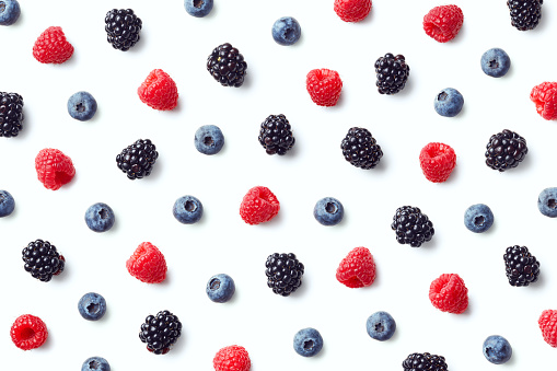 Fruit pattern of colorful wild berries 1067807350