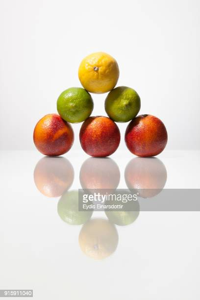 fruit - food pyramid stock photos and pictures
