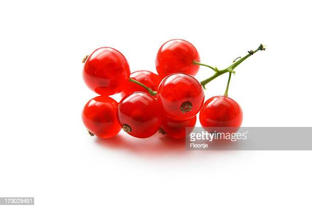 Fruit: Red Currant Isolated on White Background