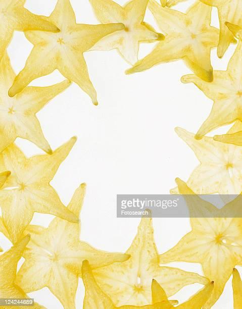 fruit, rim, starfruit, frame, yellow