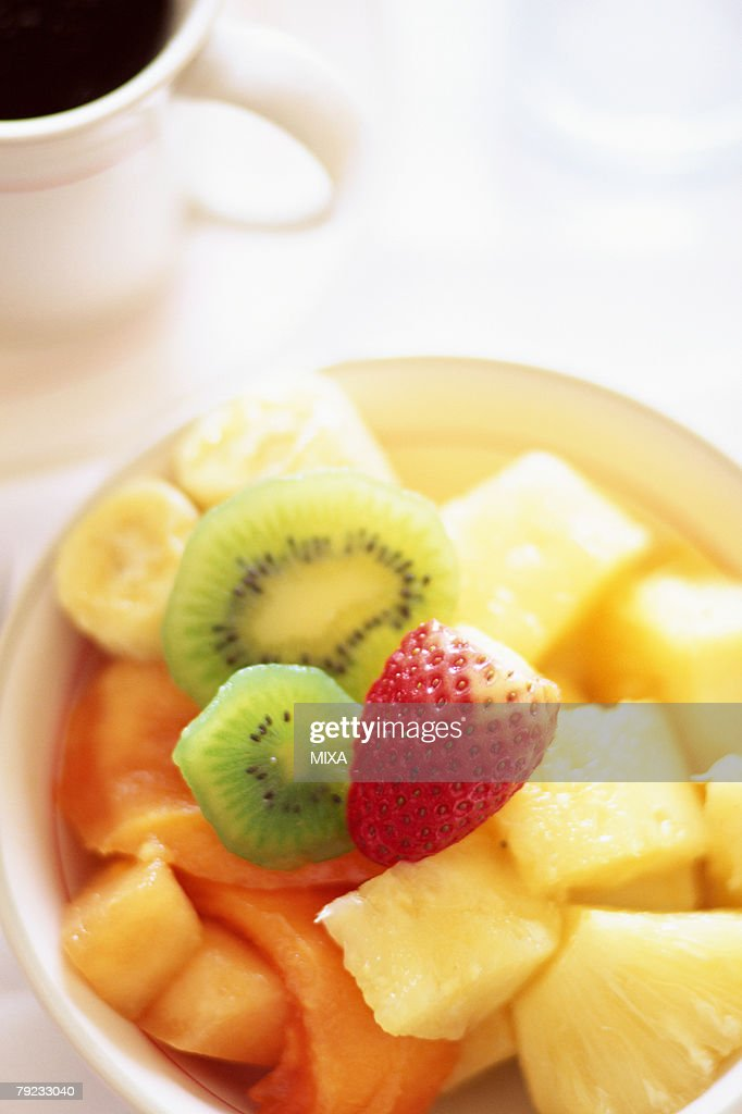 Fruit salad, close-up : Stock Photo