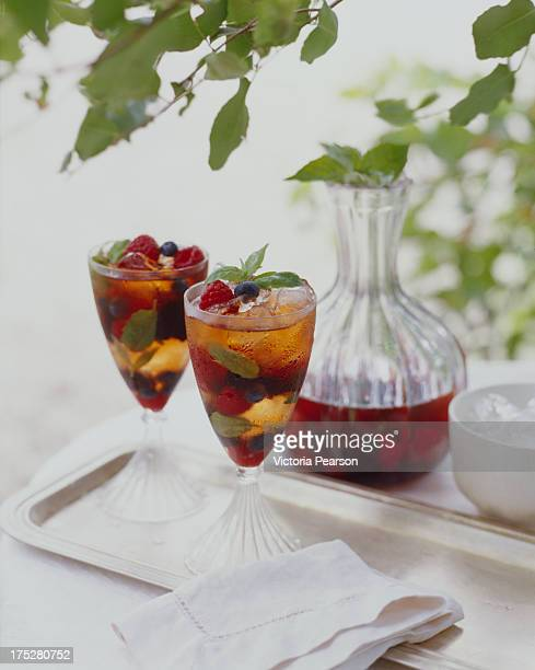 fruit sangria - sangria stock pictures, royalty-free photos & images