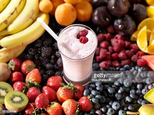 Frucht-Smoothie mit Zutaten