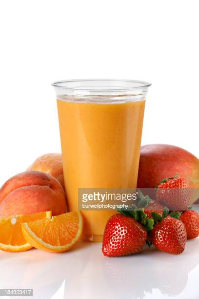 Fruit Smoothie with mango and peach