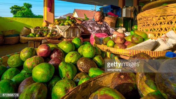 Fruit stall ( Avocado ) at malioboro road