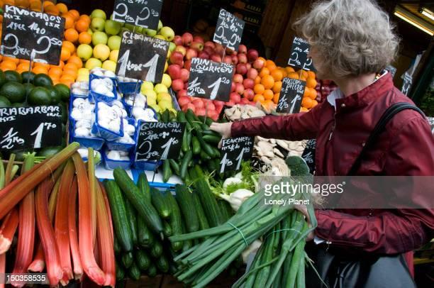 Fruit stall at Naschmarkt.