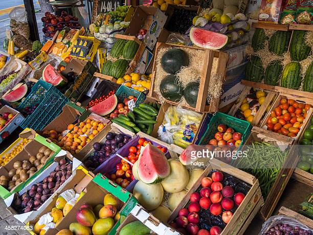 fruit stall, buenos aires - palermo buenos aires stock photos and pictures