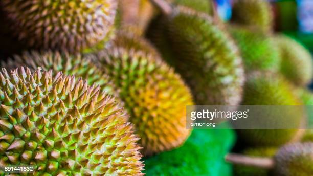 fruit stall - durian - durian stock pictures, royalty-free photos & images