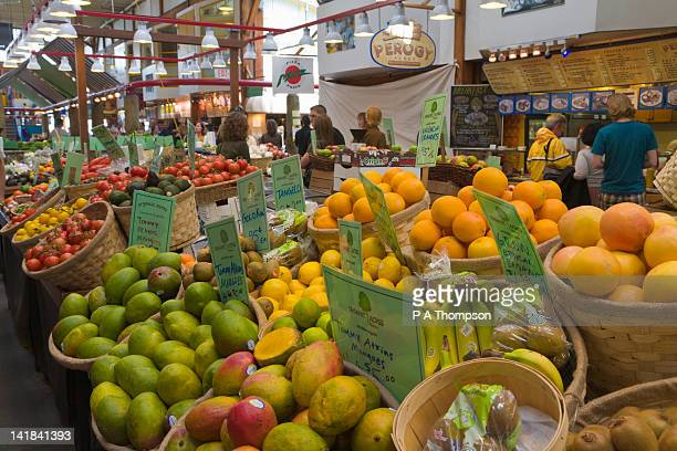 Fruit Stall, Granville Public Market, Granville Island, Vancouver, British Columbia, Canada