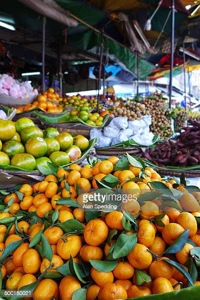 Fruit stall on phnom penh market, cambodia