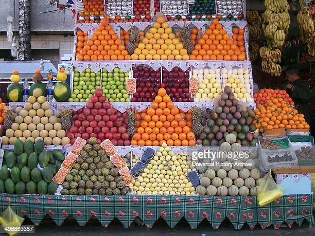 Fruit stall Sharm El Sheikh Egypt The visual art of displaying fruit on a market stall