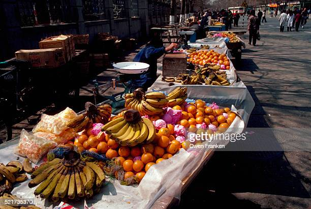 Fruit Stand at Beijing Farmers' Market