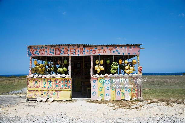 fruit stand near the sea - montego bay stock pictures, royalty-free photos & images