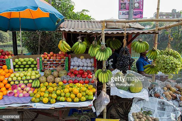 Fruit stand on the street in Dhaka city.