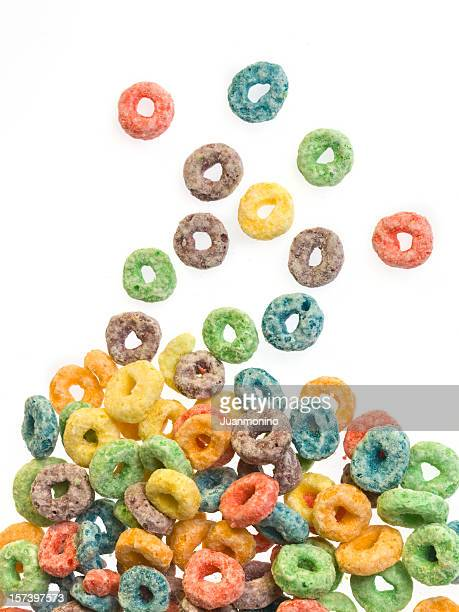 fruit sweet cereal - breakfast cereal stock pictures, royalty-free photos & images