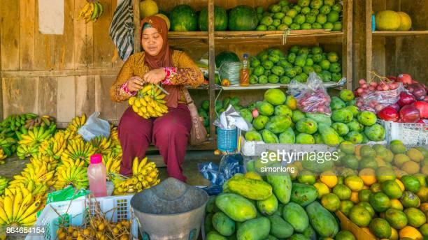 Fruit Vender at Market. Yogyakarta