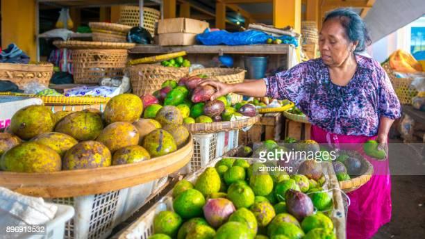 Fruit Vendor in  Beringharjo Market, indonesia