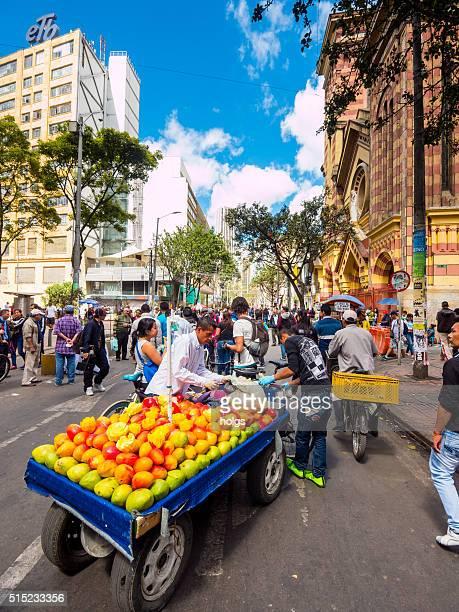 Obst Anbieter in Bogota, Kolumbien