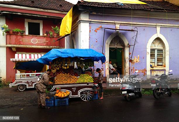CONTENT] Fruit vendor in Panaji street Panaji is one of the tourist attractions of India for Indian and foreign tourists