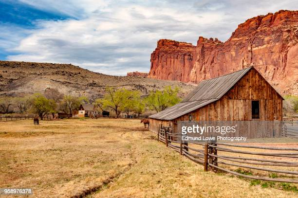 fruita is currently the heart and administrative center of capitol reef national park, utah. - 南西 ストックフォトと画像