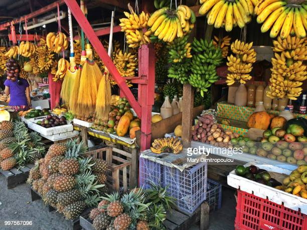 Fruits and brooms
