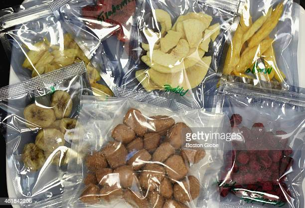 Fruits and chicken undergo a vacuum microwave drying process at the Natick Laboratory Army Research Development and Engineering Center Thursday...