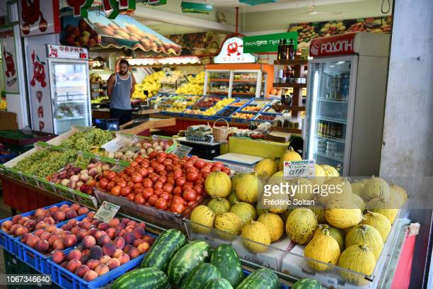 Fruits and vegetables market in Kavala It is a city in northern Greece the principal seaport of eastern Macedonia and the capital of Kavala regional...