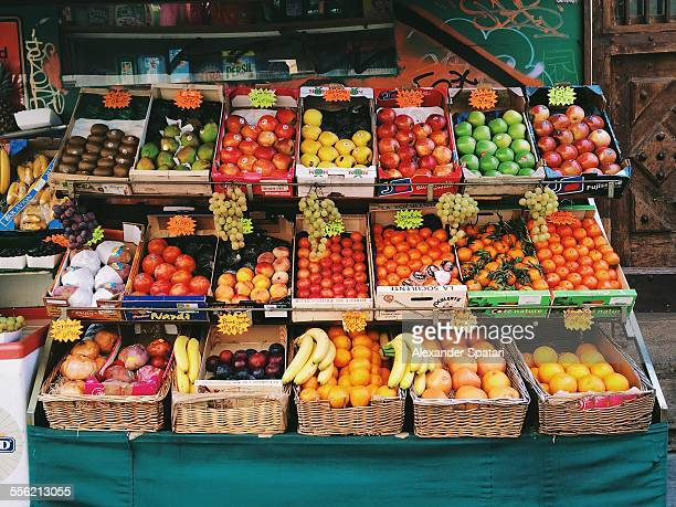 Fruits and vegetables stall in Montmartre, Paris