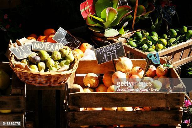 Fruits Displayed At Market